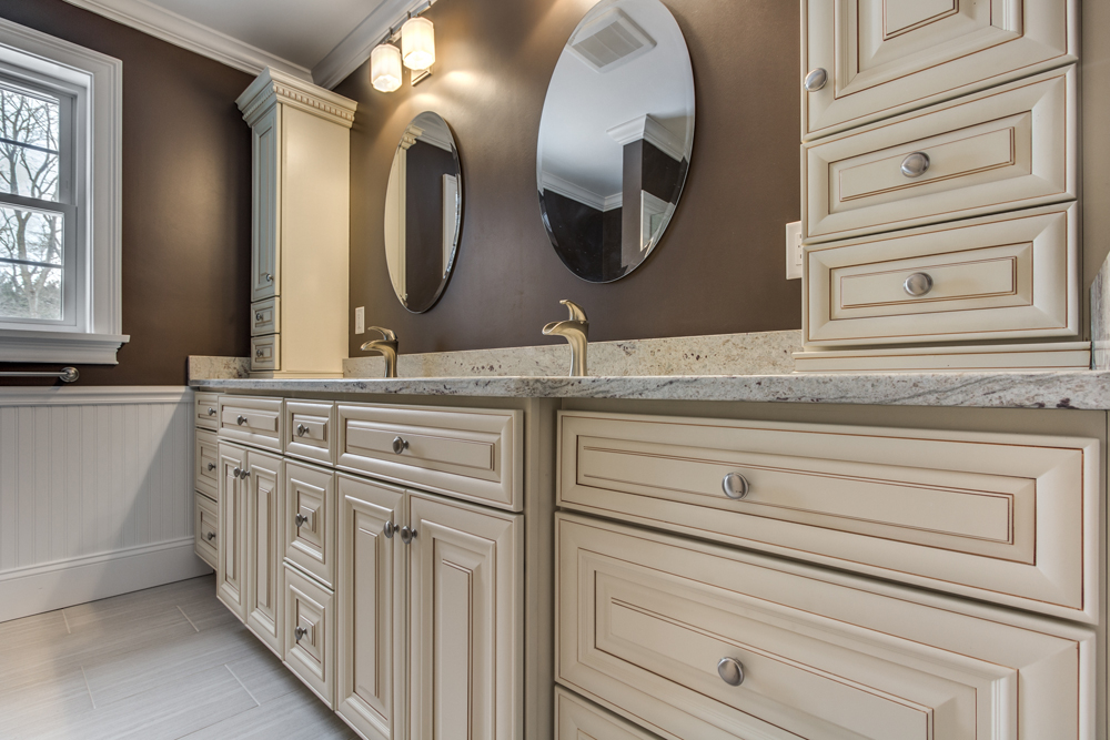 Semi custom bathroom vanity
